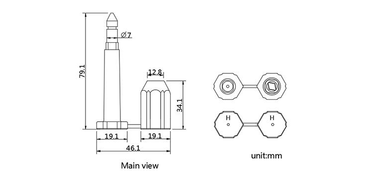 TX-BS101 bolt seal CAD
