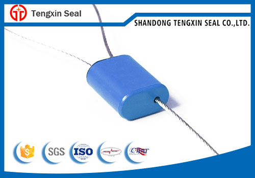 TX-CS307 Zinc alloy  security  cable seal 1.5mm