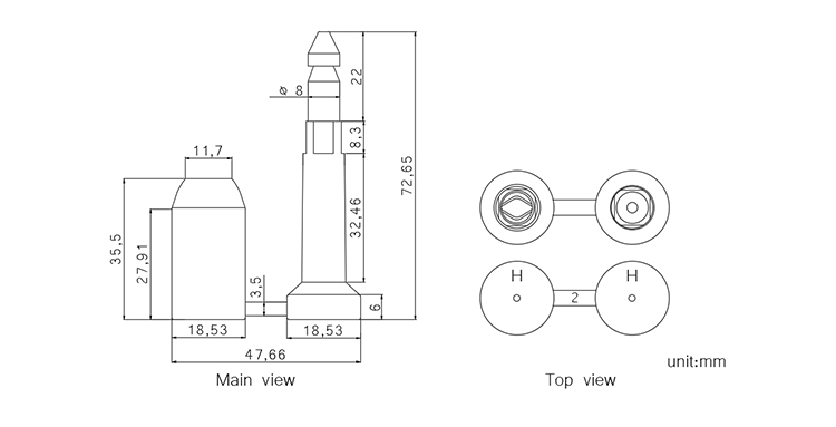 TX-BS205 bolt seal CAD