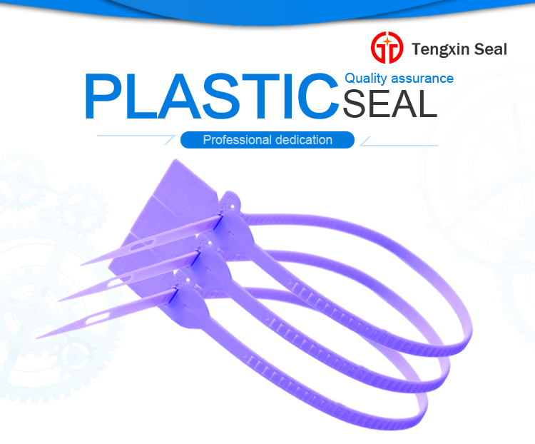 TX-PS211 Adjustable Length Plastic Seal With Yellow Color
