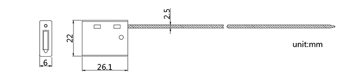 ISO 17712 Numbered Anti-tamper cable end seal cad