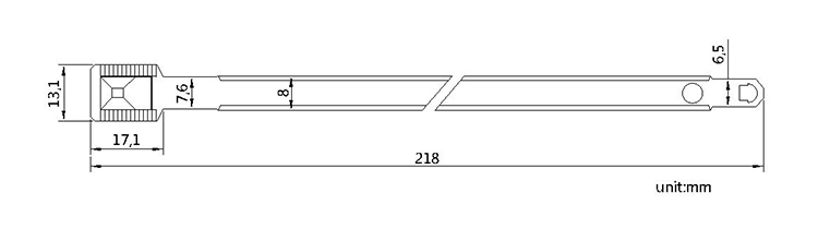 Random Start Sequential Numbering metal seal tag CAD