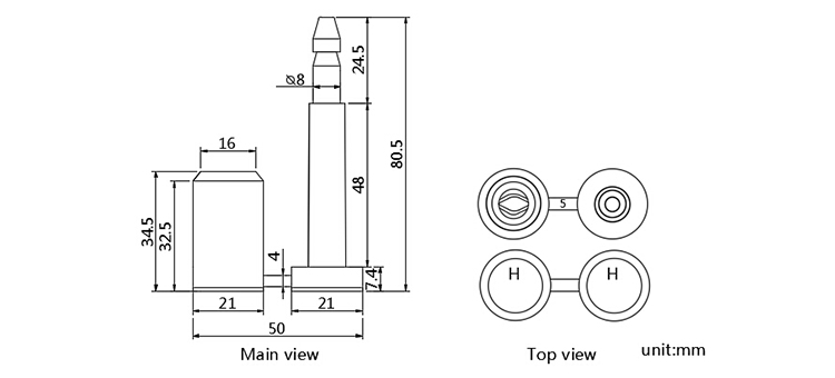 High security container door bolt lock seal with excellent quality CAD