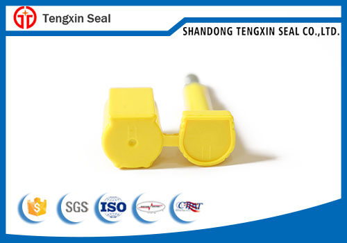 Laser printing numbering container bolt seal for shipping container