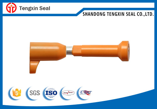 Bolt seal with barcode security seals for containers