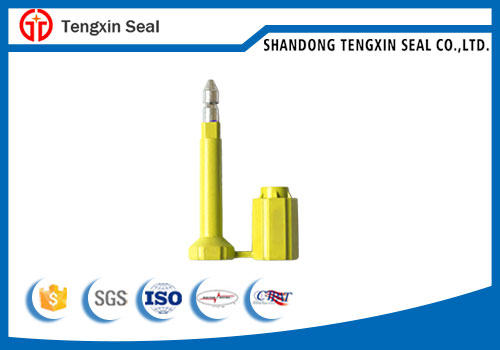 Disposable tamper evident container bolt seal