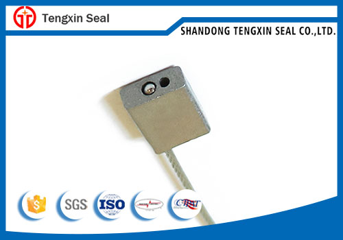 Pull tight disposible cable seal for truck container door