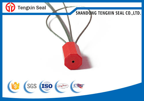 High security pull tight metal wire cable seal