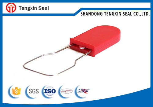 Disposable plastic padlock seals for bags logistics and airline