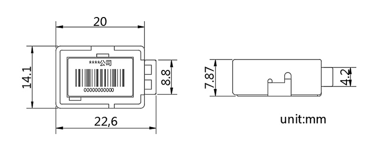Tamper Evident Electric Meter Seal with Wire CAD