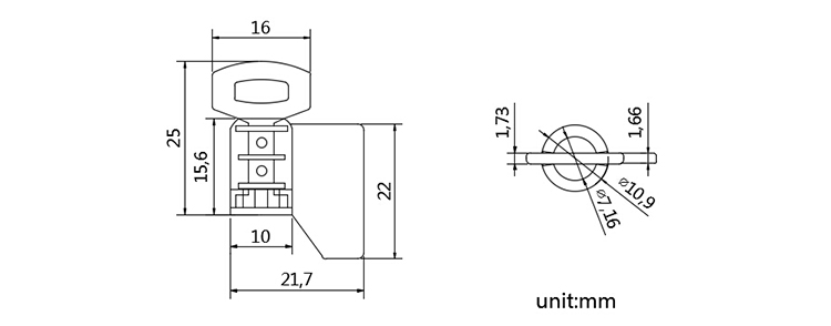 Security Wire meter seal for shipping CAD