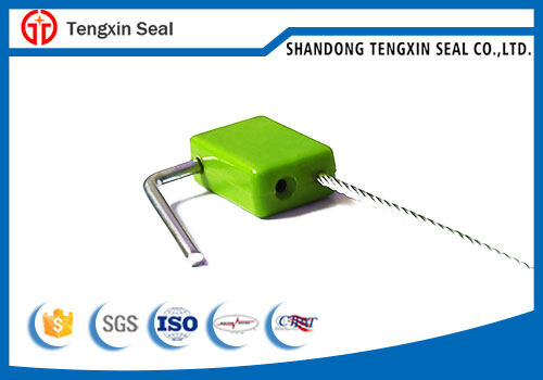 Steel wire pull tight security cable seal