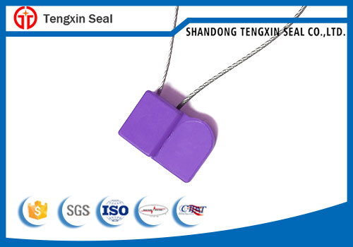 One time use anti theft numbered cable seal