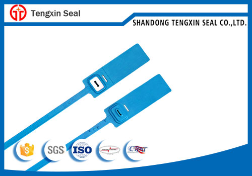 Mechanical security plastic seal with raw material